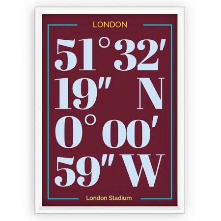 Plakat typograficzny - sportowy - West Ham United