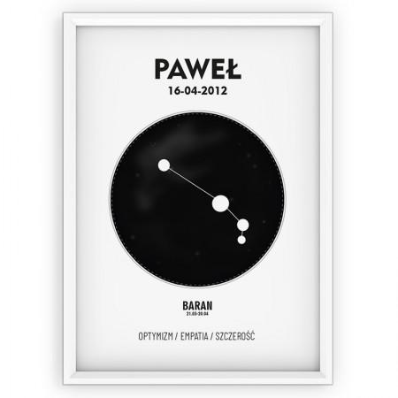 Plakat personalizowany - znak zodiaku BARAN