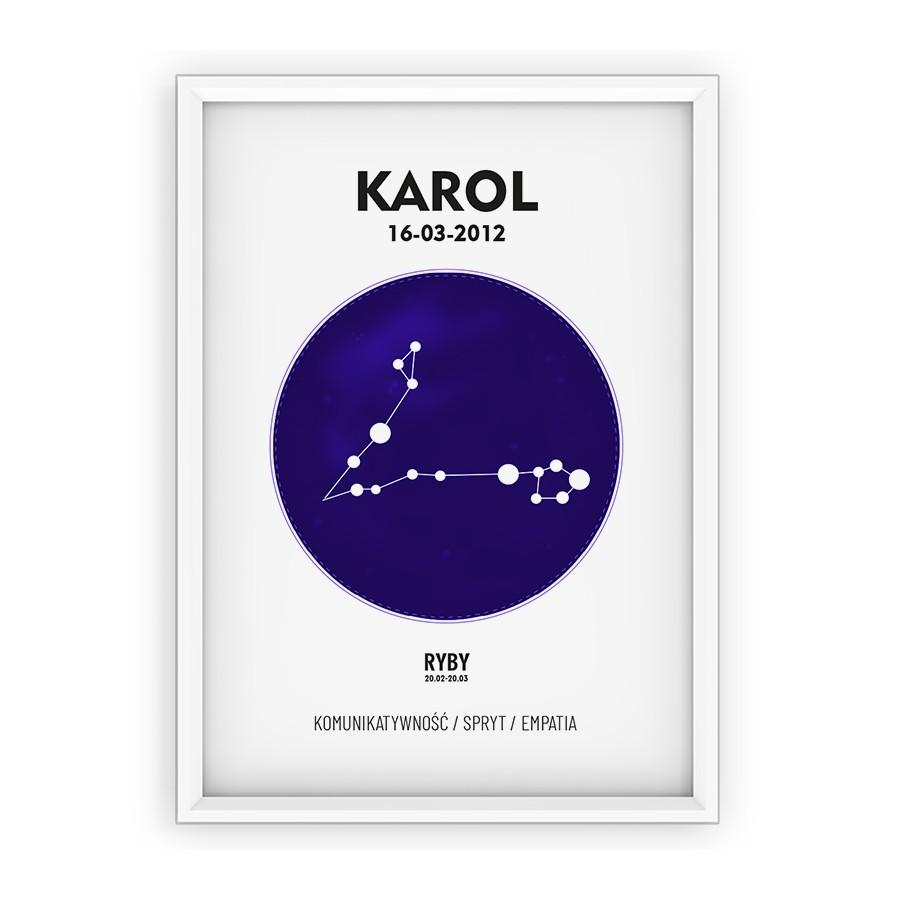 Plakat personalizowany - znak zodiaku RYBY