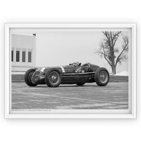 Plakat - fotografia Maserati 1938r.