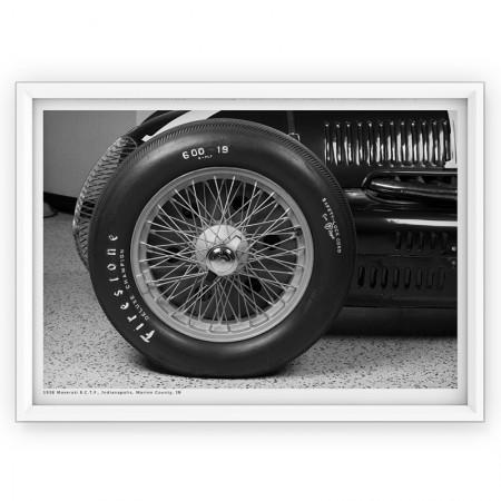 Plakat - fotografia Maserati 1938r
