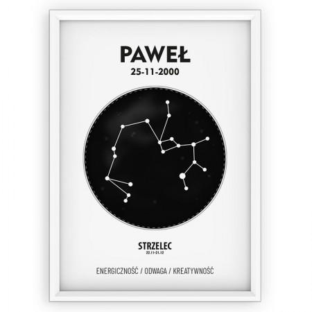 plakat personalizowany - black