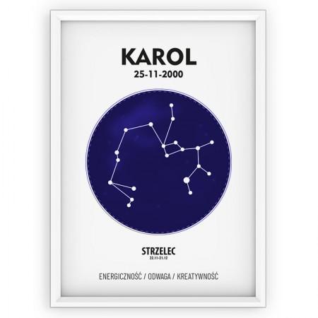Plakat personalizowany - znak zodiaku STRZELEC