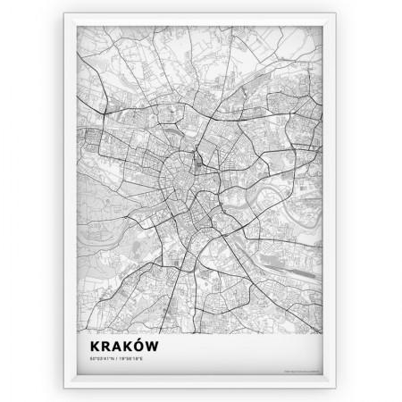 MAPA / PLAKAT - KRAKÓW / standard WHITE