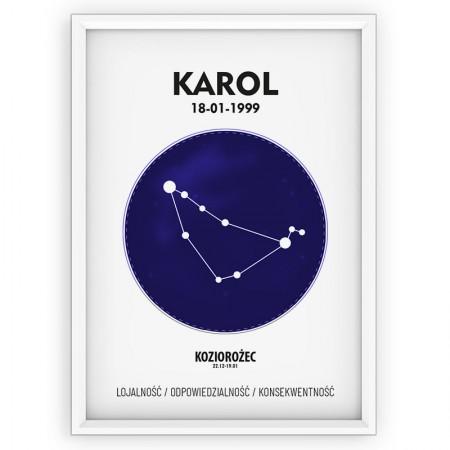 Plakat personalizowany - znak zodiaku KOZIOROŻEC