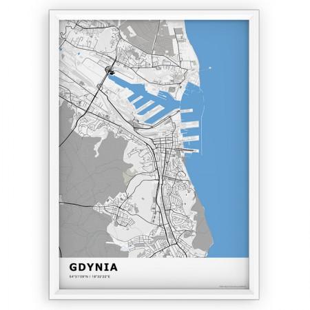 MAPA / PLAKAT - GDYNIA / standard BLUE